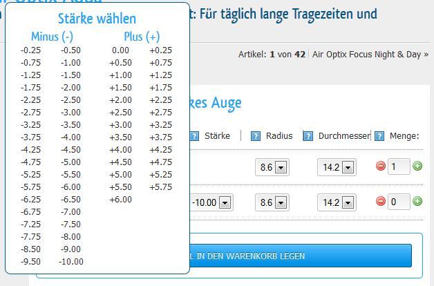 Kontaktlinsen Werte Berechnen : parameter von kontaktlinsen ~ Themetempest.com Abrechnung